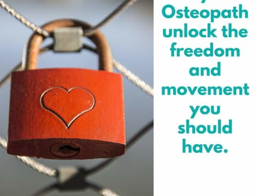 Osteopathy treatment and aftercare advice.